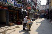 Famous Freak Street (Jhochhen Tole) Thamel Kathmandu Nepal