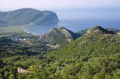 coastal profile of Buljarica Bay from Novoselje, Montenegro