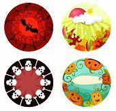 Halloween Illustrations with autumn elements