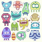 picture of monster symbol  - cartoon monsters - JPG