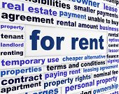For rent business words concept