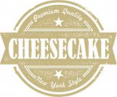 Vintage Cheesecake Dessert Stamp Label