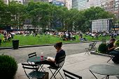 Enjoying In Bryant Park
