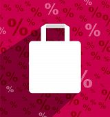 Sale Shoping Bag With Copy Space And Long Shadow