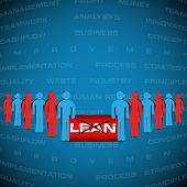 Abstract Background With People Manifested Against Lean Strategy