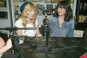 BURBANK, CA - FEBRUARY 16: Sarah Stouffer and Amy Okuda participate in The IntelleXual podcast prior
