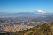Mountain Fuji in winter season from Izu Kanagawa prefecture Japan