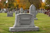 stock photo of graveyard  - Cemetery - JPG
