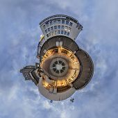 Kroepcke hole in Hannover. Little Planet Panorama.