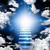 stock photo of stairway  - Stairway to heaven - JPG