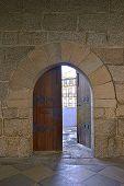 Door At Castle In Guimaraes, Portugal