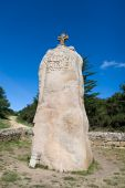 Christianized Menhir In Brittany, France