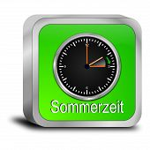 daylight saving time button - in german