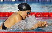 BARCELONA - JUNE, 11: Danish swimmer Rikke Moller Pedersen swimming breakstroke during the Mare Nost