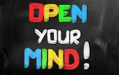 Open Your Mind Concept