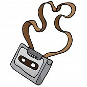 tangled audio cassette cartoon doodle