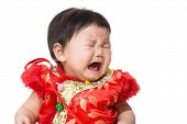 Chinese girl crying