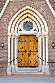 Wooden Entrance Door Of Church