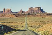 View Of Famous Road To Monument Valley