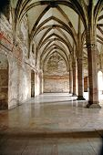 stock photo of hungarian  - Interior of Corvinesti Castle Hunedoara Transylvania Romania - JPG