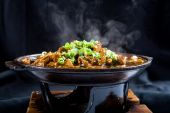 stock photo of chinese food  - steaming hot Chinese style food  - JPG