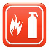 stock photo of fire extinguishers  - fire extinguisher  - JPG