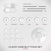 Set of light media control buttons.