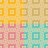 Seamless Pattern Of Squares And Zigzag Lines