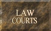 Law Courts On Brown Marble Plaque