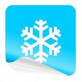 snow blue sticker icon