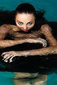 seductive woman in water