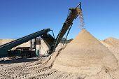 Sand Pile And Screening Machine