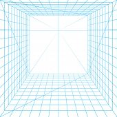 Perspective grid. Vector.