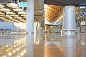 Barajas terminal interior of Madrid airport.