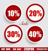 Sale Coupon, voucher, tag, sticker. Modern Style template Design vector illustration.