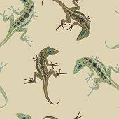 pattern bulky lizard on a background color