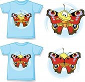 Kid Shirt With Cute Butterfly Printed