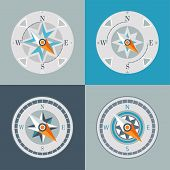 compasses decorative series arrow