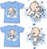 Kid Shirt With Cute Angel Printed