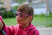 Young Girl In Sunglass