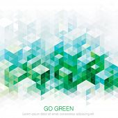 Abstract geometric green urban background. Vector.