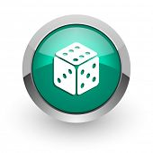 game green glossy web icon