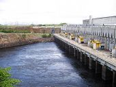 foto of bolivar  - A hydroelectric plant on the river caroni - JPG