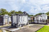 picture of burial-vault  - Lafayette cemetery in New Orleans with historic Grave Stones - JPG