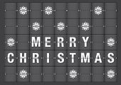 Merry Christmas Holiday Greeting In Airport Flipboard Style