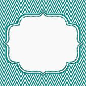 picture of chevron  - Teal and White Chevron Zigzag Frame Background with center for copy - JPG