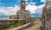 image of albania  - Clock tower of castle in Gjirokaster  - JPG