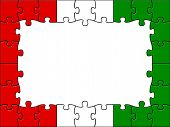 Hungary Jigsaw Means Empty Space And Blank