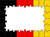 Germany Jigsaw Shows Text Space And Copy