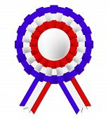 French Rosette Shows Waving Flag And Celebration